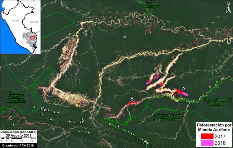 Deforestación en el sur del Perú