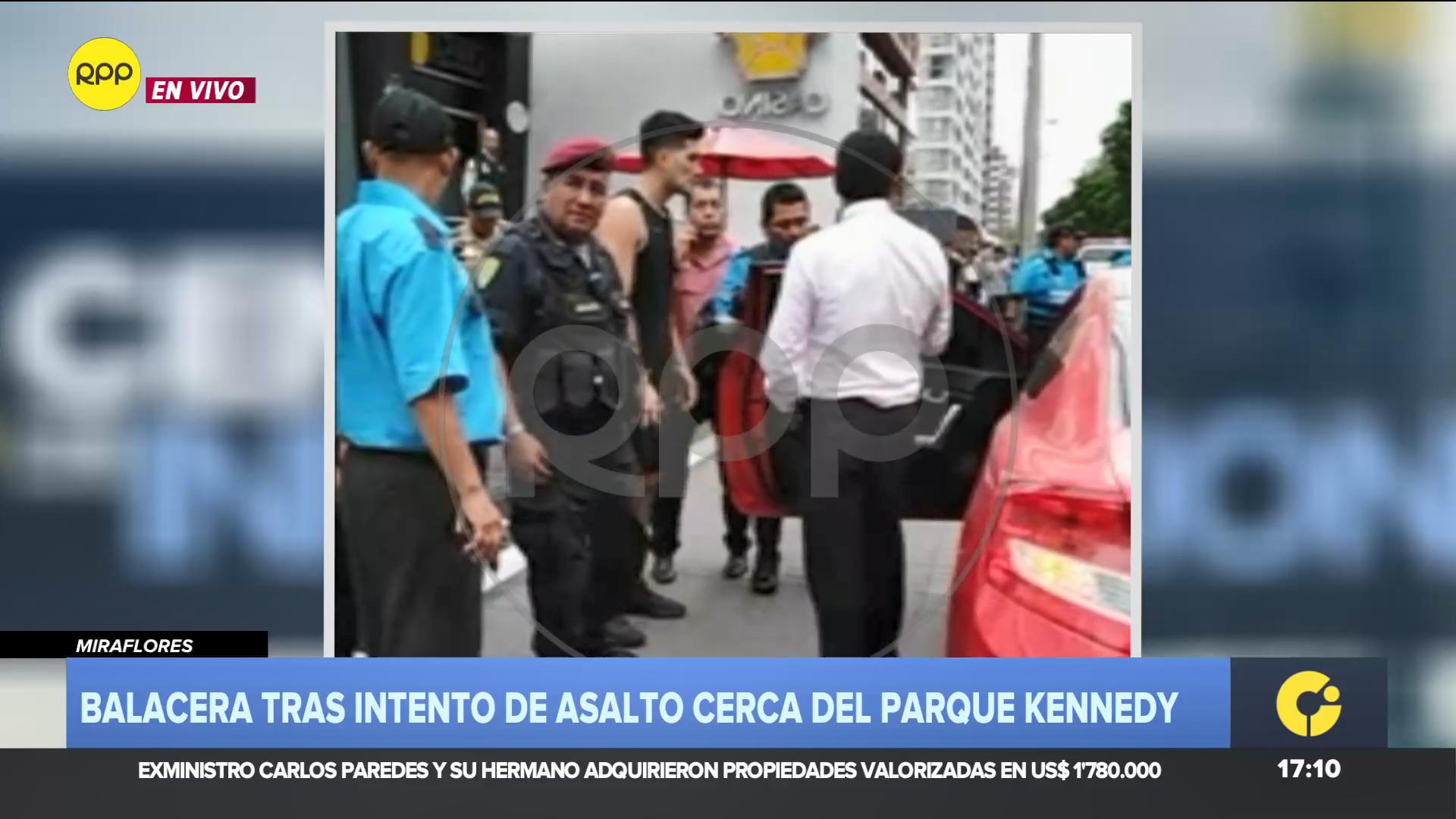 El agraviado fue conducido a la Depincri de Miraflores para dar su manifestación.