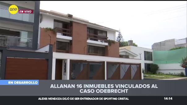 Las diligencias se iniciaron al promediar las 11am y se desarrolla en unaos 14 inmuebles en diversos sectores de Lima.