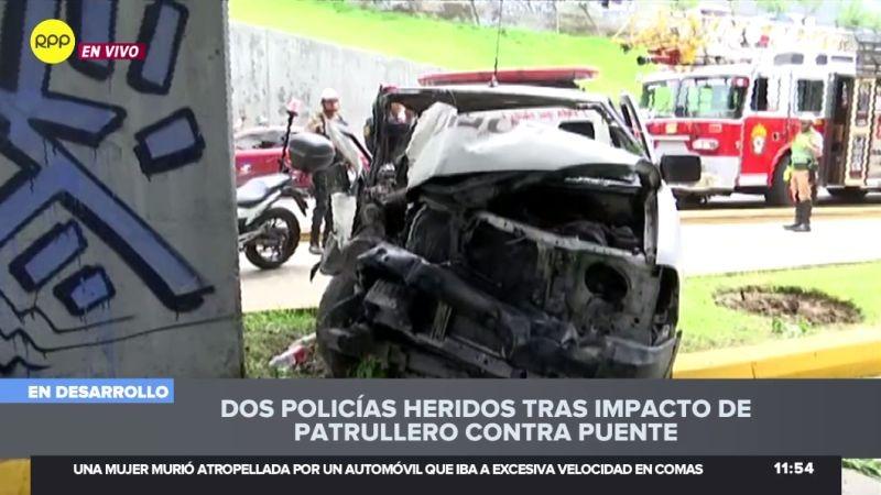 Los policías heridos fueron trasladados de emergencia a un hospital.