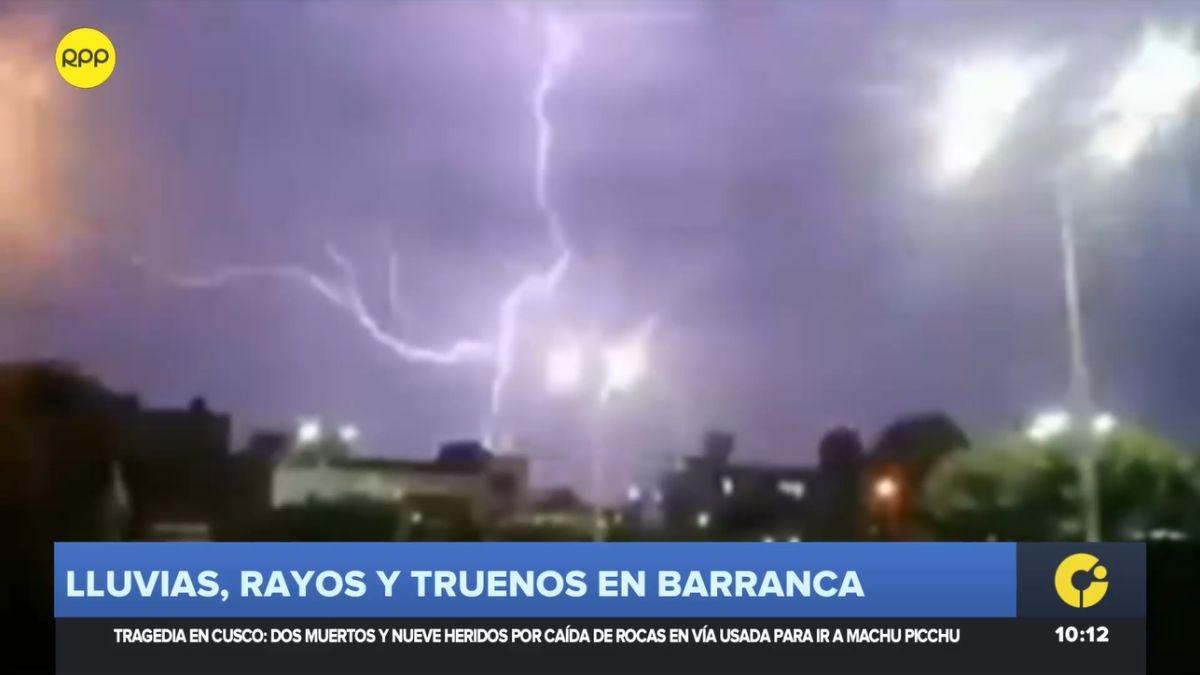 Lluvias, rayos y truenos en Barranca