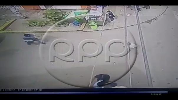 Así fu el asalto a la joven en la avenida Huandoy.