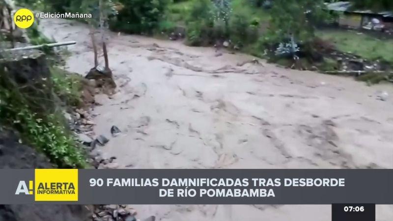 El desborde del río Pomabamba ha afectado hasta los baños termales de la provincia