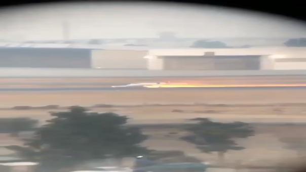 El aterrizaje de emergencia visto desde otro ángulo.