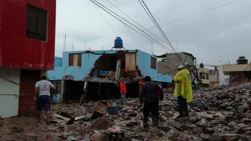 Emergencia en el distrito de Aplao en la provincia de Castilla.