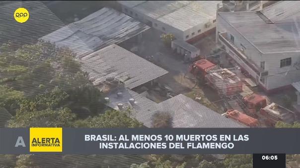 Incendio en el centro de entrenamiento de Flamengo.