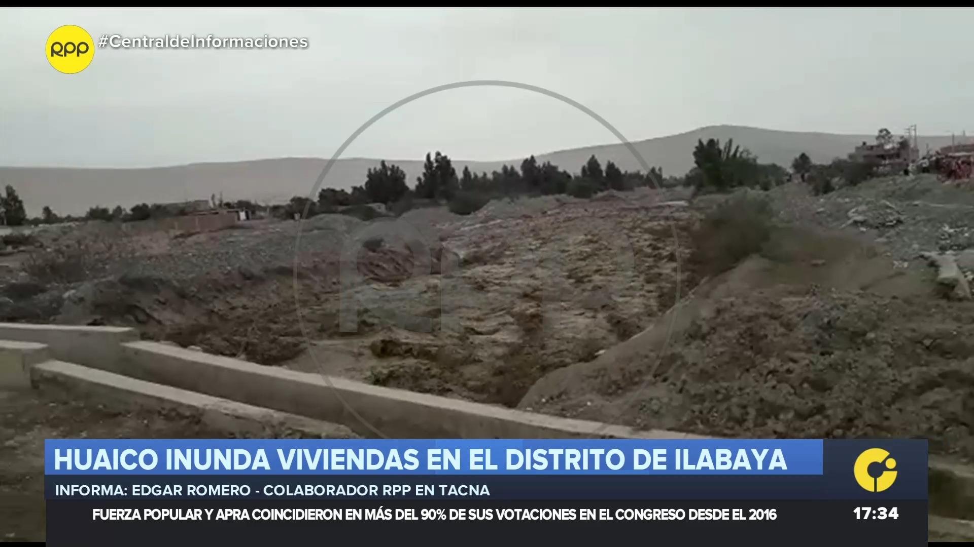 El huaico inundó las viviendas del centro poblado de Mirave.