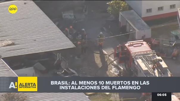 Incendio en instalaciones del Flamengo