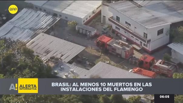 La tragedia en el centro de entrenamiento de Flamengo.