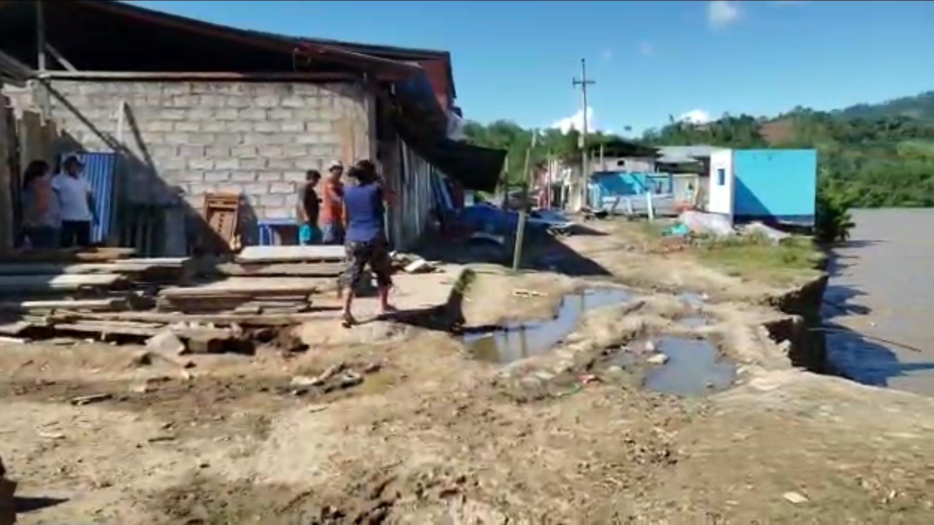 Así quedó el distrito de Vizcatán del Ene, en la provincia de Satipo, tras el desborde del río que arrasó con 27 viviendas.