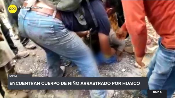Niño arrastrado por huaico fue enterrado en Mirave.