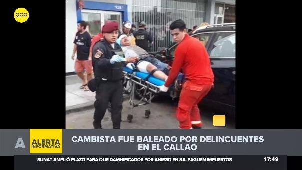 Cambista recibió dos impactos de bala en la pierna.