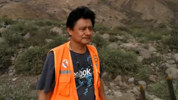 Manuel Solar, jefe de Defensa Civil de El Porvenir.