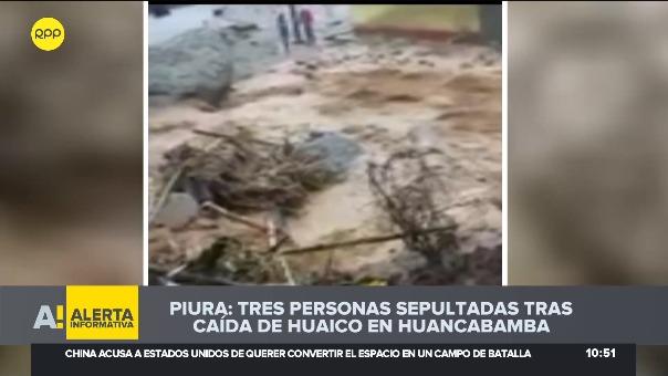 Deslizamiento se produjo en en el caserío Peña Blanca en el distrito de Carmen de la Frontera,. Entre las víctimas se encuentra una menore de edad.
