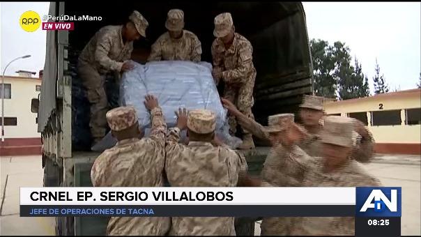 RPP Noticias acompaña a los vehículos del Ejército que se encargan de trasladar la ayuda humanitaria para los distritos afectados por deslizamientos.