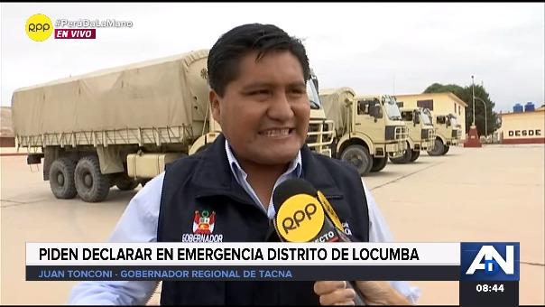 El Gobernador regional de Tacna, Juan Toncono Quispe se apersonó para continuar con la inspección de la entrega de ayuda humanitaria.