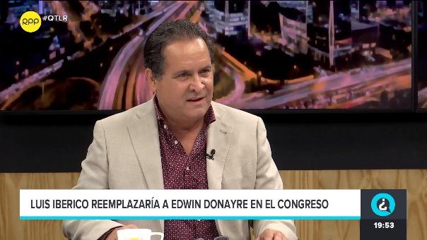 Luis Iberico, accesitario de Edwin Donayre, habló sobre su colega en ¿Quién tiene la razón.