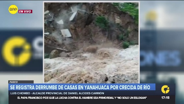 El alcalde Daniel Alcides Carrión, Luis CHombe, se comunicó con RPP para explica la situación en su provincia.