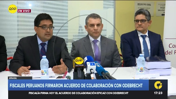 Procurador Jorge Ramírez anunció el monto que Odebrecht pagará de reparación civil.