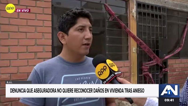 La familia Quiroz ha quedado literalmente en la calle debido al aniego en San Juan de Lurigancho.