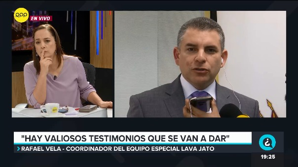 El fiscal superior Rafael Vela se pronuncia sobre denuncia presentada por la defensa de Alan García contra José DOmingo Pérez.
