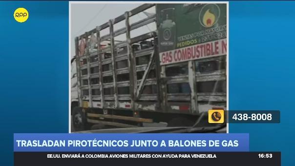 En denuncia por medio del Rotafono, se supo que el camión se trasladaba por la Panamericana Sur, a la altura de los distritos de San Bartolo y Santa María.