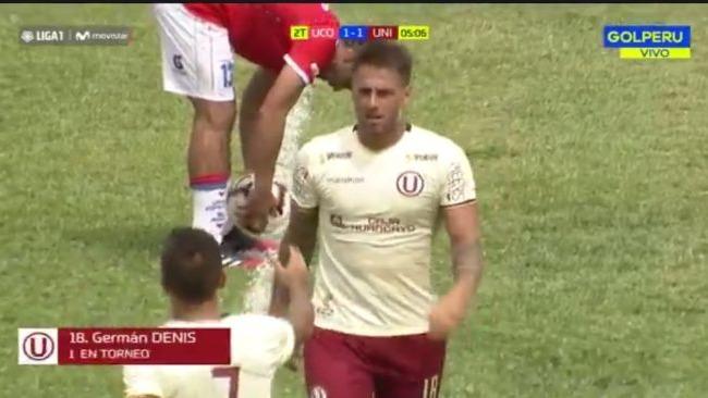 Germán Denis anotó el gol del empate ante Unión Comercio