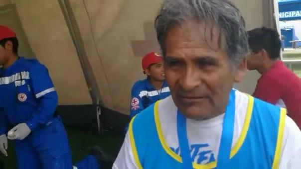 Jesús Tintaya, a sus 72 años, cumplió su objetivo de cruzar la meta de la maratón.