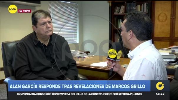 Expresidente, Alan García.