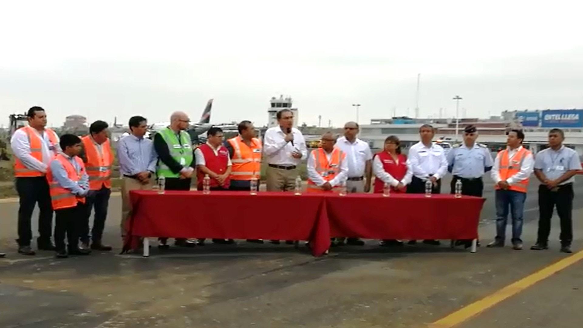 Presidente Martín Vizcarra habla sobre la importancia de ampliar el aeropuerto de Chiclayo