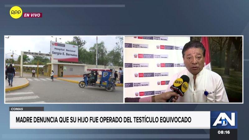 Julio Silva, director del Hospital Nacional Sergio E. Bernales, respondió a la denuncia de una supuesta negligencia médica.