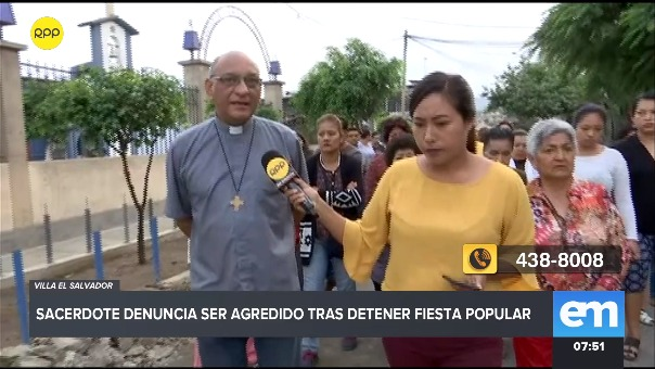 El padre conversó con RPP Noticias en compañía de vecinos de su comunidad.