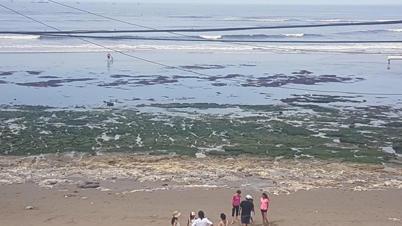 Video que muestra el retiro de las aguas en Pimentel