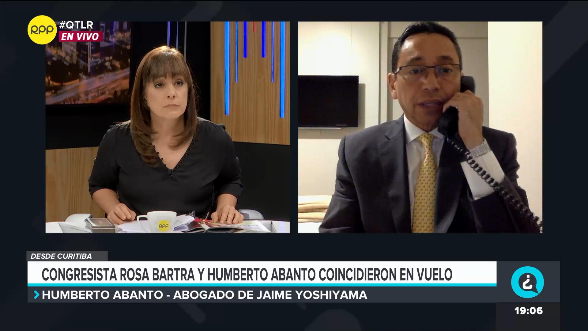 El abogado descartó haber coordinado la defensa de Jaime Yoshiyama con Rosa Bartra.