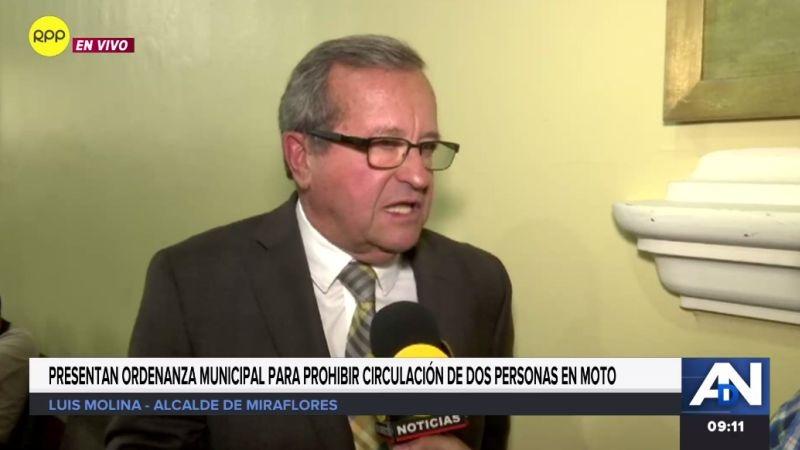 El alcalde de Miraflores habló para RPP Noticias.