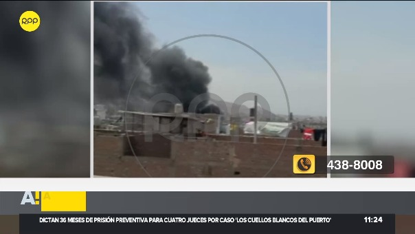 Incendio ocurre en la avenida Del Maestro, en Comas.