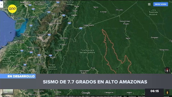Reportes sobre el sismo desde el Perú
