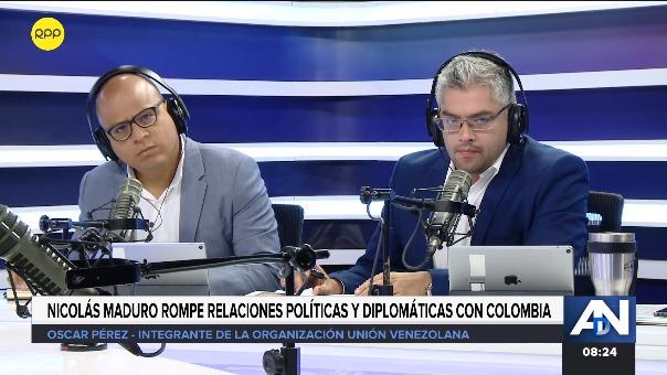 El exdiputado venezolano Óscar Pérez en entrevista con RPP.