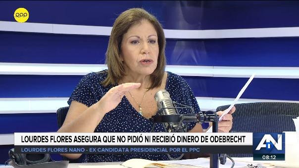 Flores Nano asegura que no pidió ni recibió dinero de Odebrecht