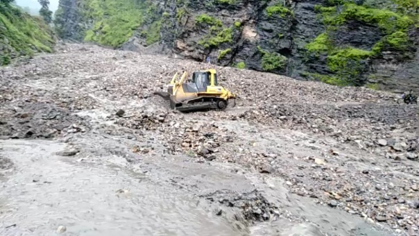 El distrito de Huaranchal en Otuzco sufre el bloqueo de alguna de sus carreteras debido a los huaicos.