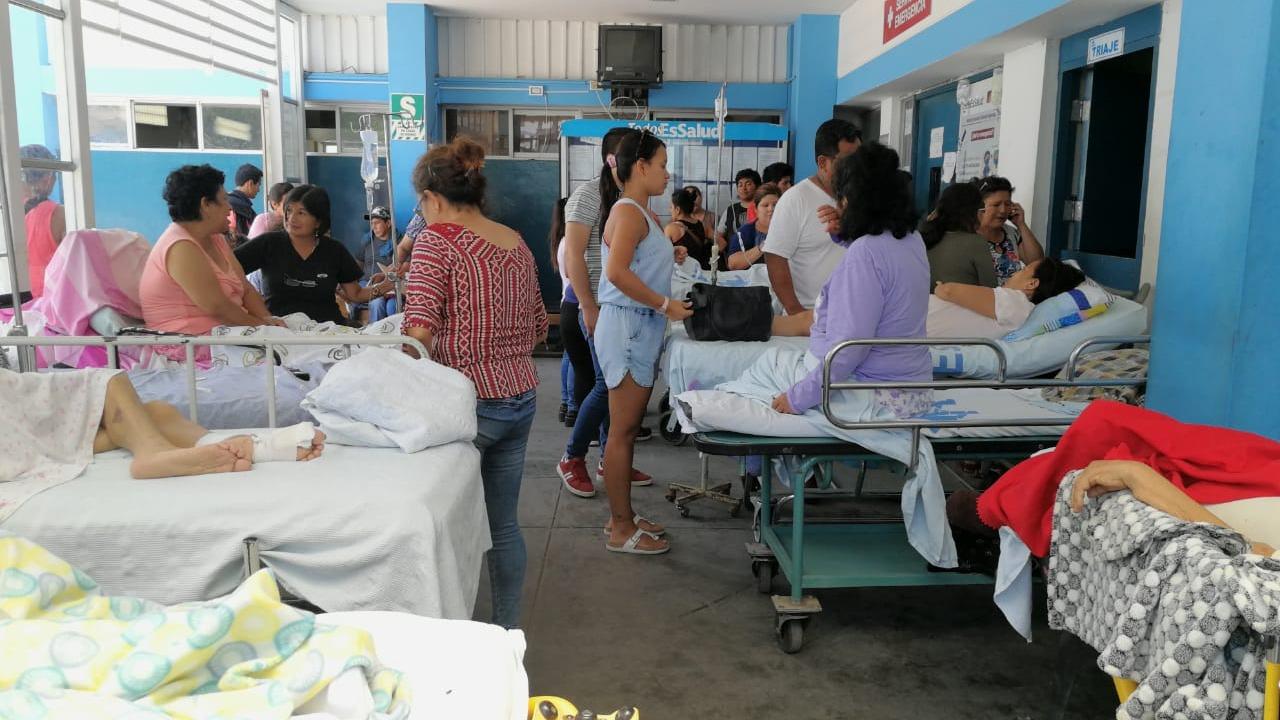 Pacientes trasladados al área de emergencias