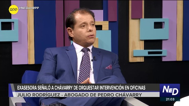 Julio Rodríguez, abogado de Pedro Chávarry, en entrevista con RPP.