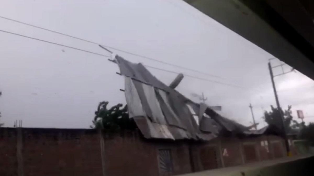 Fuertes vientos se registraron en la ciudad de Chulucanas.