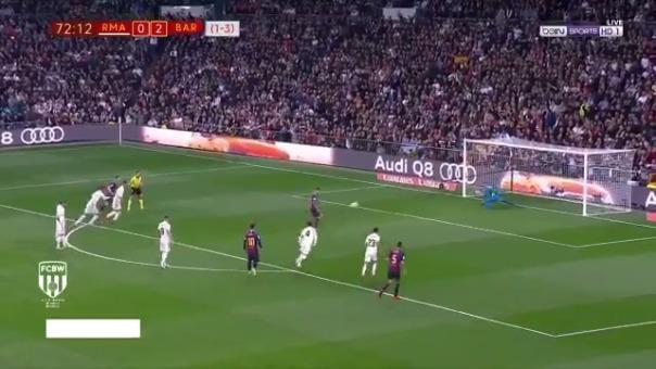 Luis Suárez marcó dos goles en el Real Madrid vs. Barcelona.