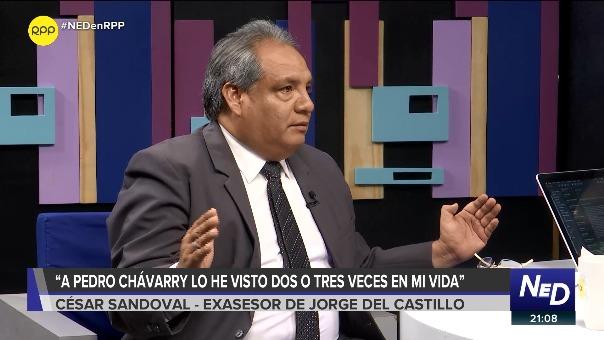 César Sandoval, exasesor de Jorge del Castillo, en entrevista con Nada Está Dicho.