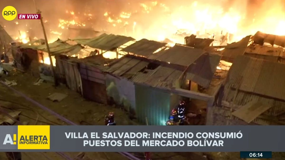 Imágenes del incendio en Villa el Salvador