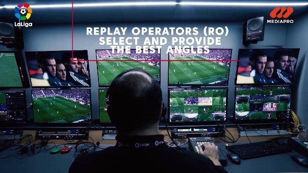 La preparación técnica de los partidos de LaLiga requiere a más de 100 profesionales audiovisuales