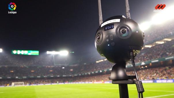 Cinco cámaras Insta360 Pro son las usadas para cubrir en 360 grados cada detalle del partido