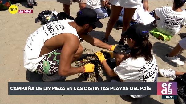 Campaña de limpieza en las distintas playas del país.
