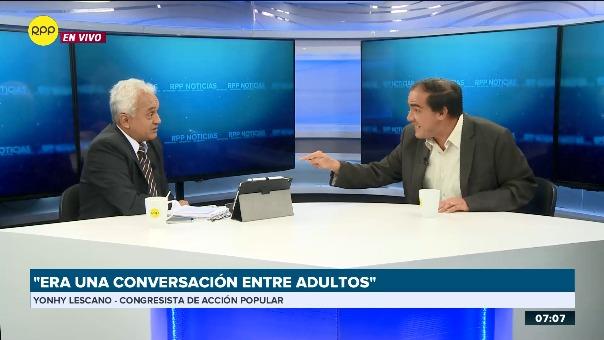 Yonhy Lescano respondió a preguntas sobre denuncia de acoso sexual a periodista en RPP Noticias.